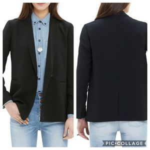Madewell Lycee Drapey Blazer in True Black